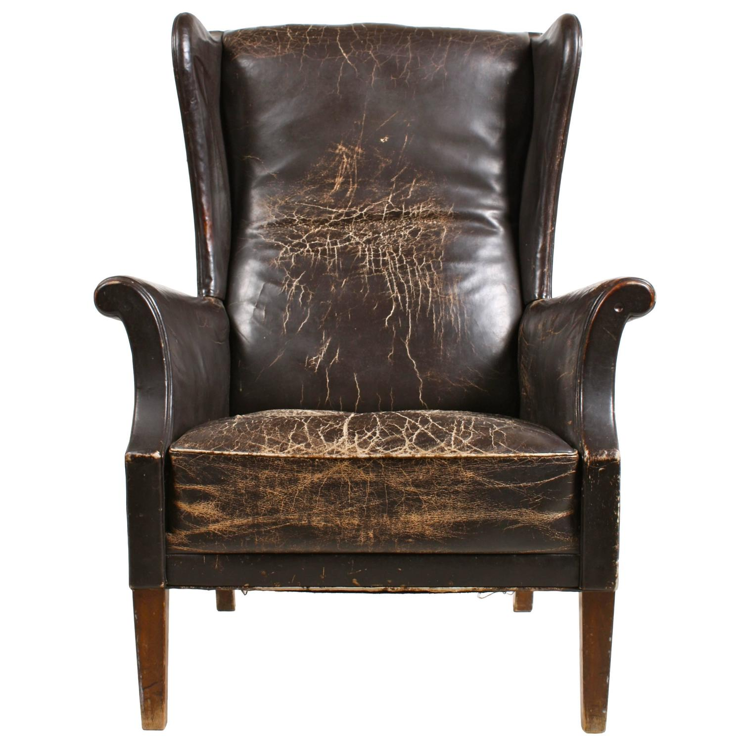 Decorative Wingback Chair For Sale at 1stdibs