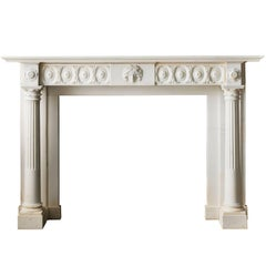 18th Century Regency Mantel in Statuary Marble