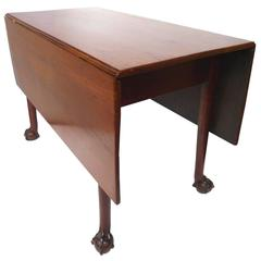 18th Century English Mahogany Chippendale Drop-Leaf Table