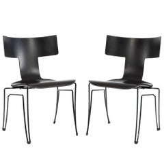 Pair of Anziano Chairs by John Hutton for Donghia