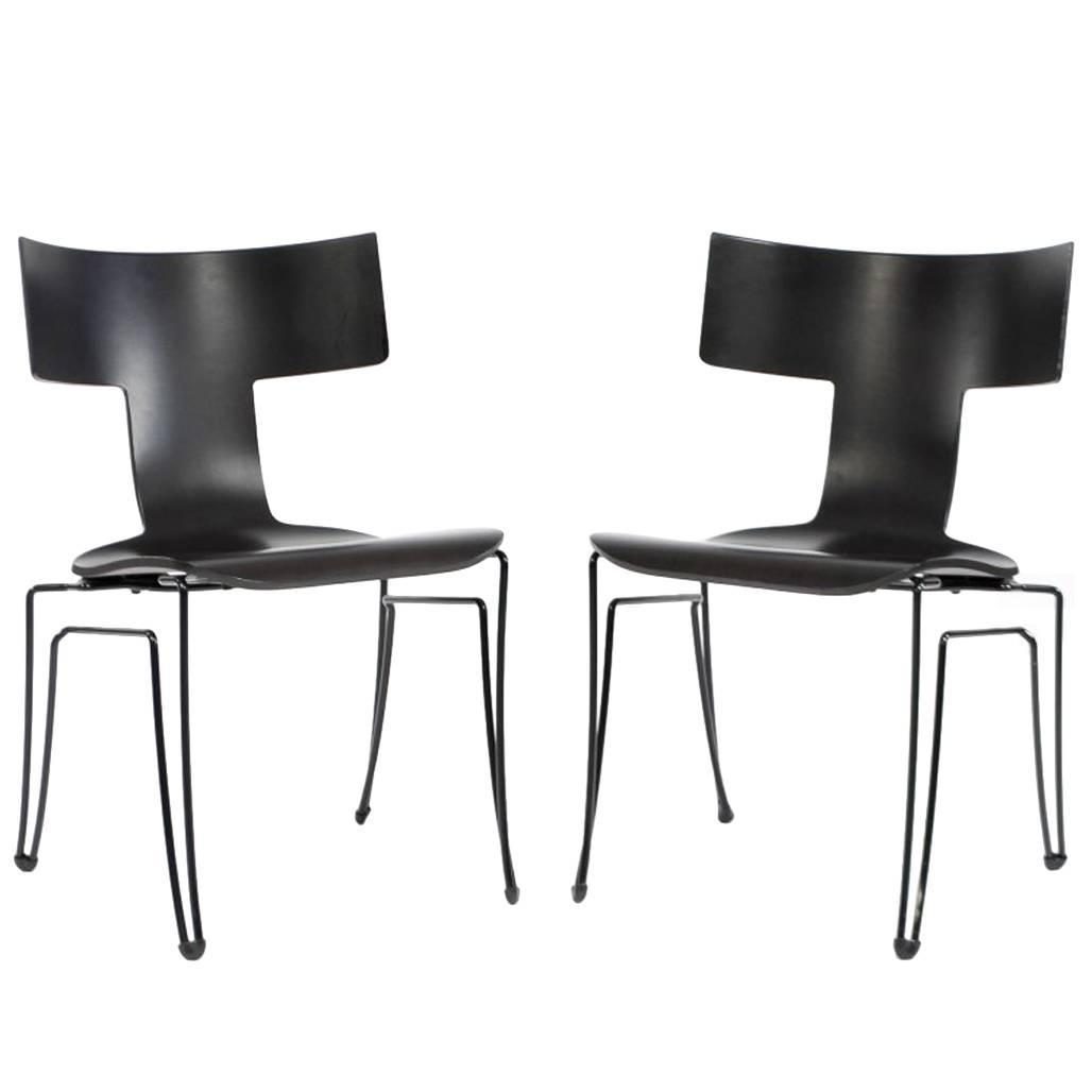 Pair Of Anziano Chairs By John Hutton For Donghia For Sale At 1stdibs