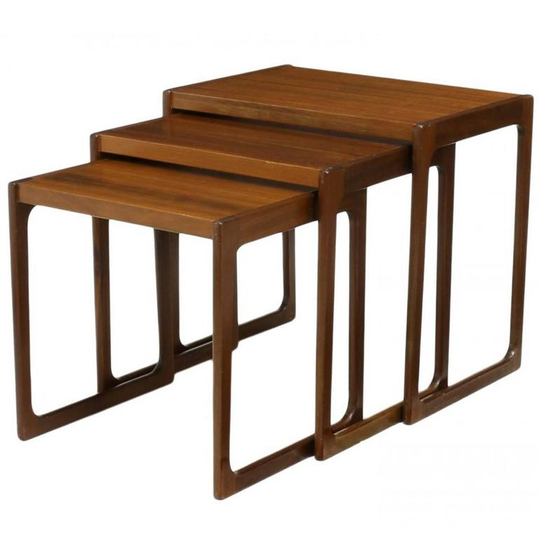 Contemporary Nesting Tables ~ Danish mid century modern nesting tables for sale at stdibs