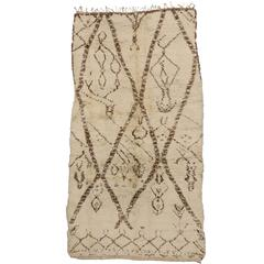 Vintage Berber Moroccan Rug with Abstract Tribal Designs