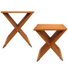 Pair of Danish Teak Folding Stools