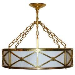 Set of Bronze & Milk Glass Light Fixtures, Sold Individually