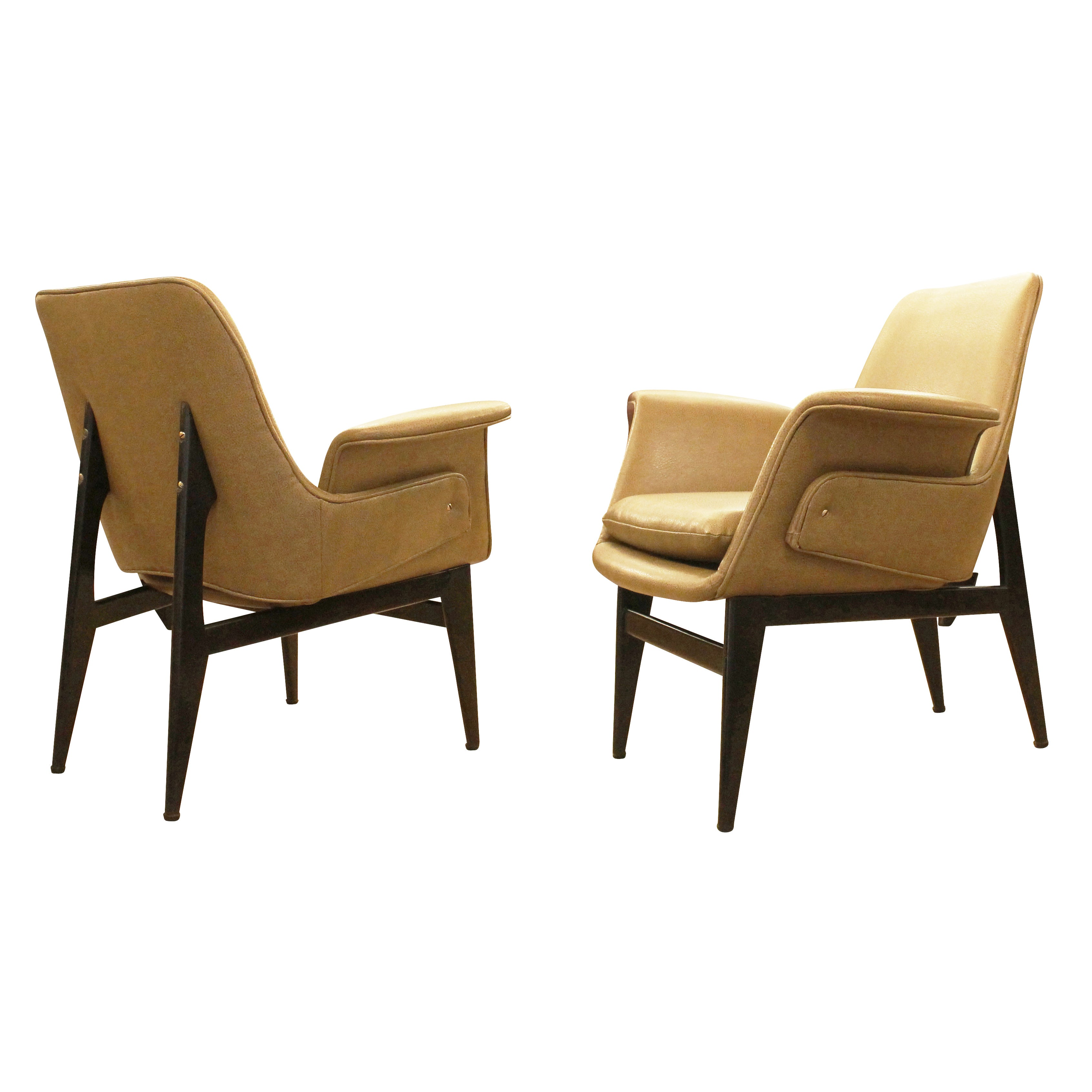 Diminutive 1960s Italian Lounge Chairs