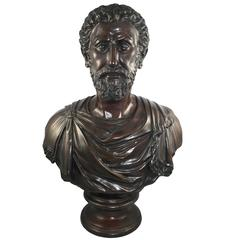 Classical Style Roman Bronze Bust