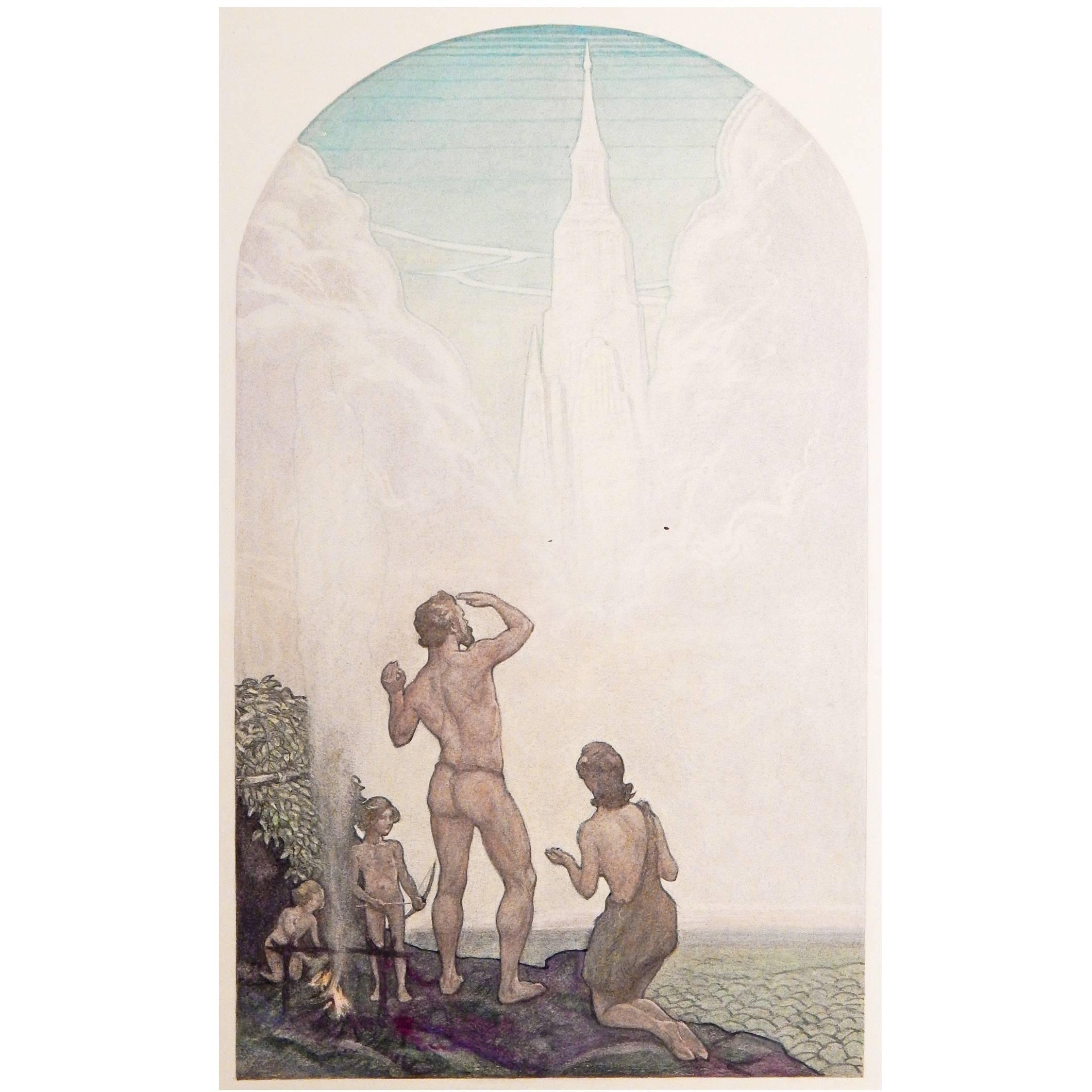 """""""Progress of Civilization"""" Art Deco Masterpiece by Muralist Aiden Lassell Ripley"""
