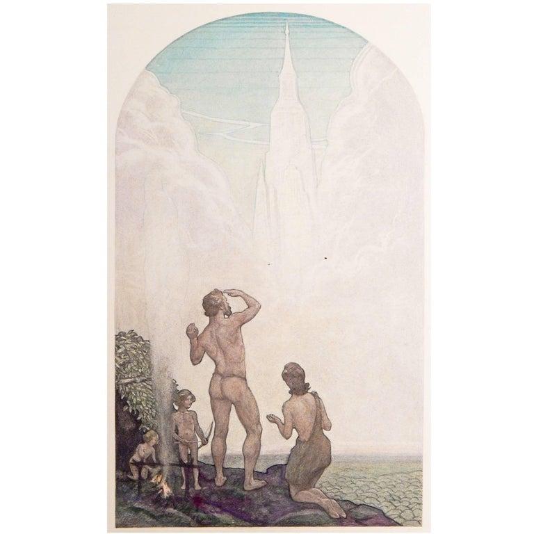"""""""Progress of Civilization"""" Art Deco Masterpiece by Muralist Aiden Lassell Ripley For Sale"""