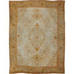 Remarkable Antique Turkish Oushak Carpet