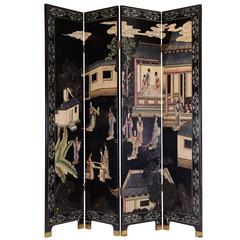 Chinese Story Telling Folding Screen