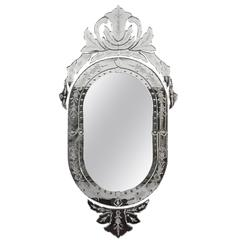 Beautiful Venetian Mirror with crest