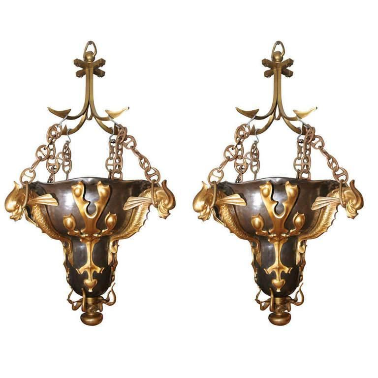 Original Baltic Exchange Chandeliers For Sale
