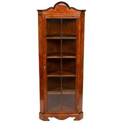 Early 20th Century Corner Display Cabinet