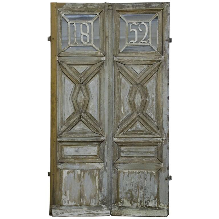 french wooden main entrance door 1852 for sale at 1stdibs