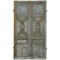 French Wooden Main Entrance Door, 1852