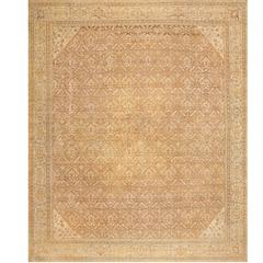 All Over Design Antique Indian Amritsar Rug
