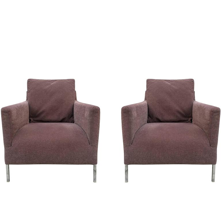pair of kalos lounge chairs by antonio citterio for b b italia at 1stdibs. Black Bedroom Furniture Sets. Home Design Ideas