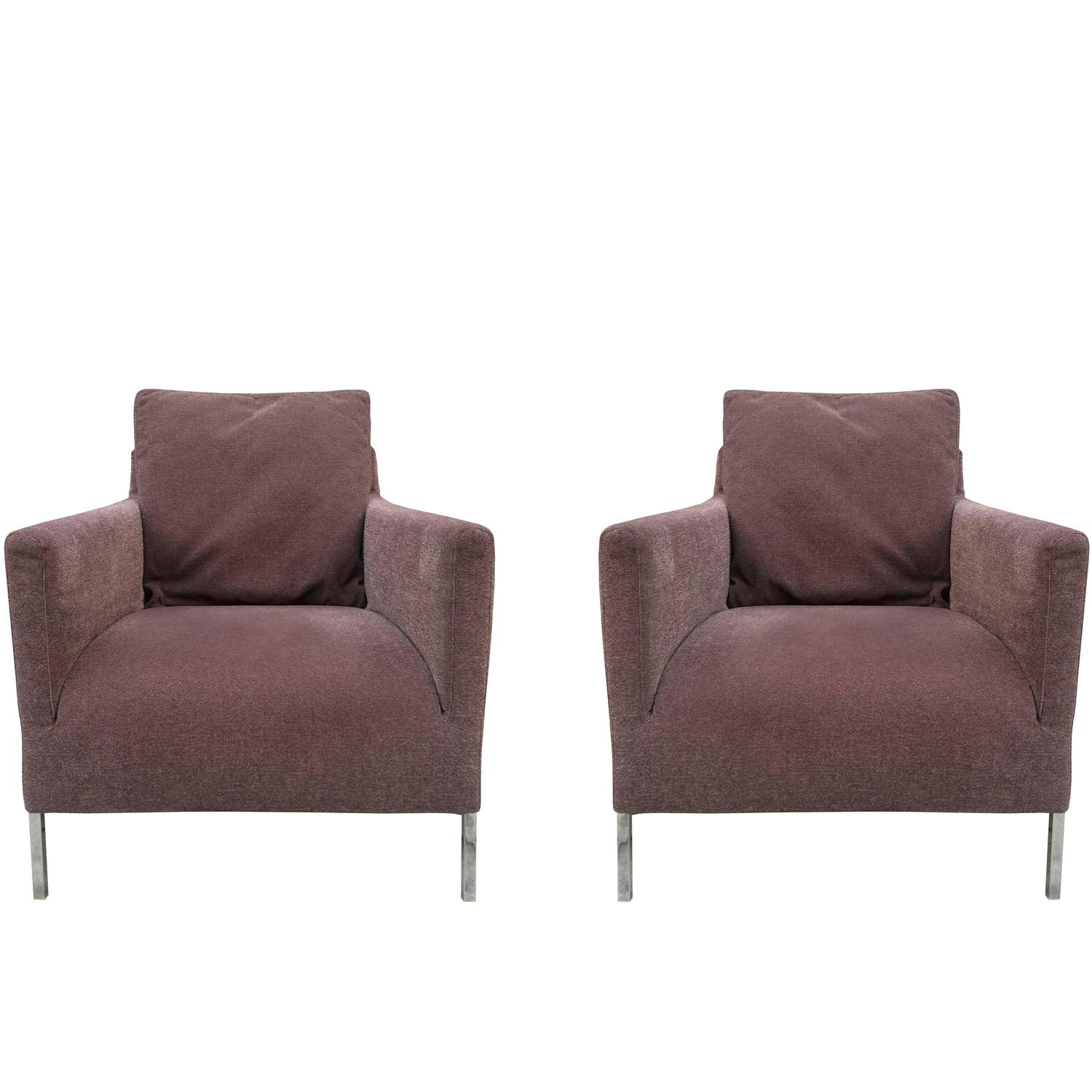 pair of b b italia solo chairs by antonio citterio for. Black Bedroom Furniture Sets. Home Design Ideas