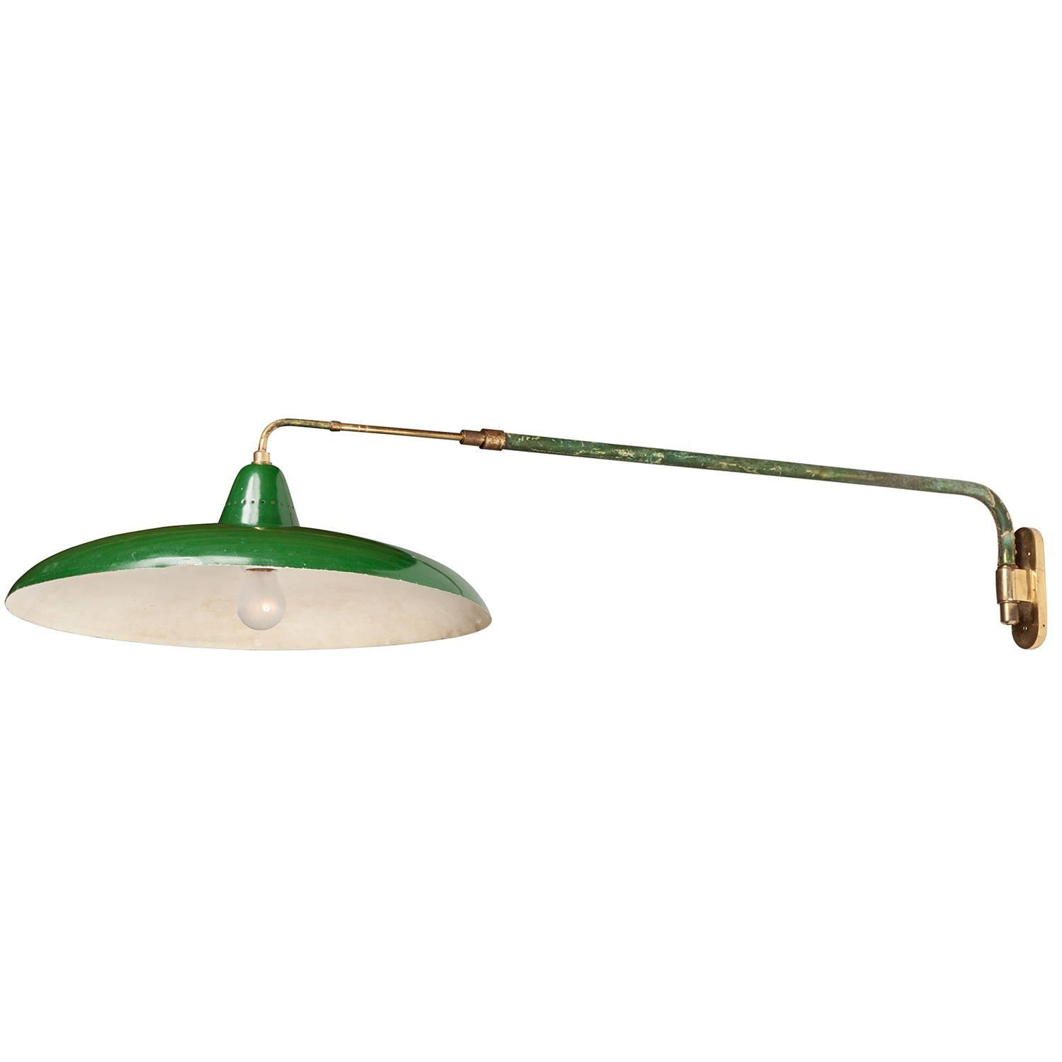 Wall Extension Light : Green Extension Arm Lamp at 1stdibs
