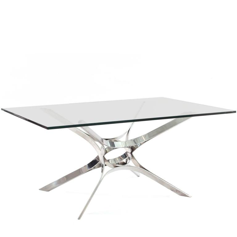 Sculptural Chrome Cocktail Table by Roger Sprunger for Dunbar