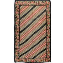 Vintage Turkish Bessarabian Kilim Flat-Weave Rug