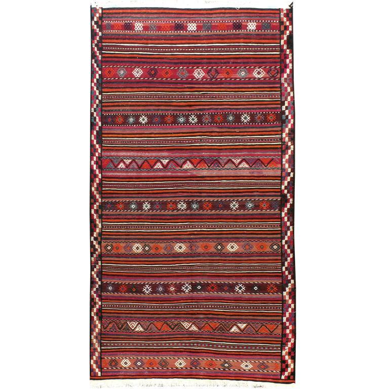 Vintage Turkish Flat Weave Rug