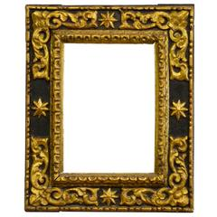 Spanish Giltwood Sacristy Frame with Later Mercury Mirror Plate Mid-17th Century