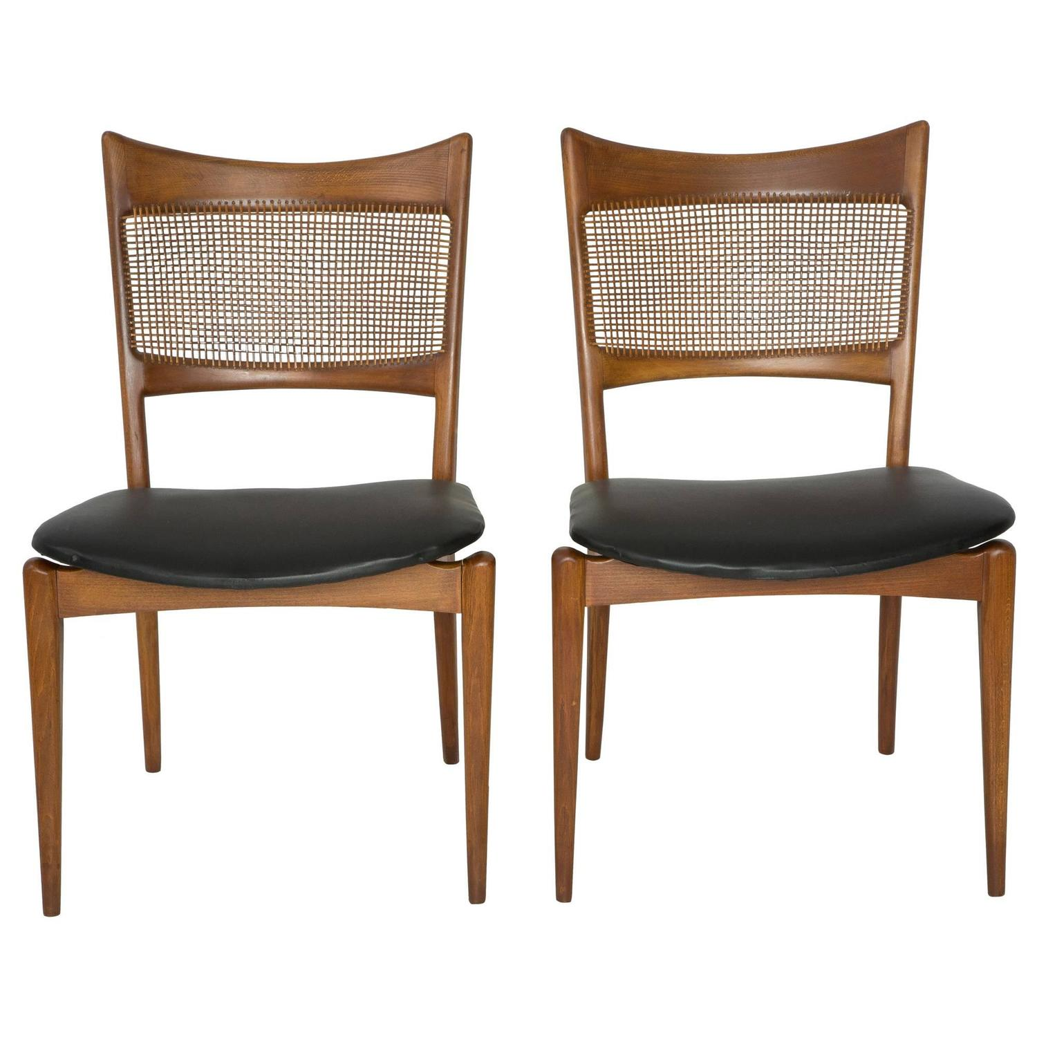 Pair of edmund spence style woven back chairs for sale at for Furniture 80s band