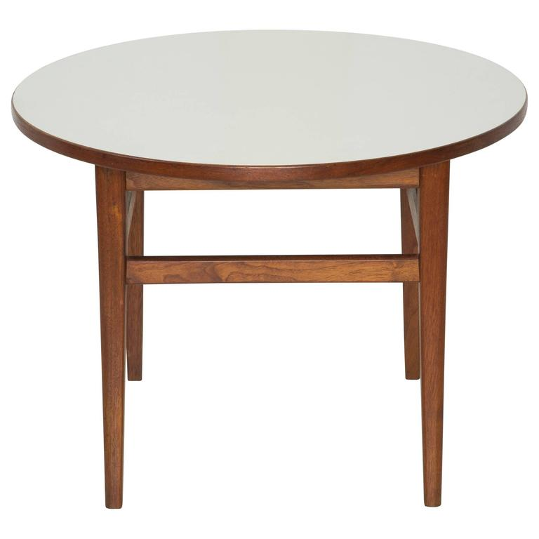 Jens Risom Attributed Mid Century Modern Round Side Table