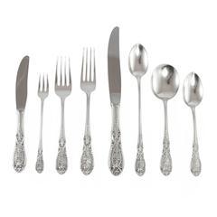 20th Century 'Southern Grandeur' Sterling Silver Flatware Set by Easterling