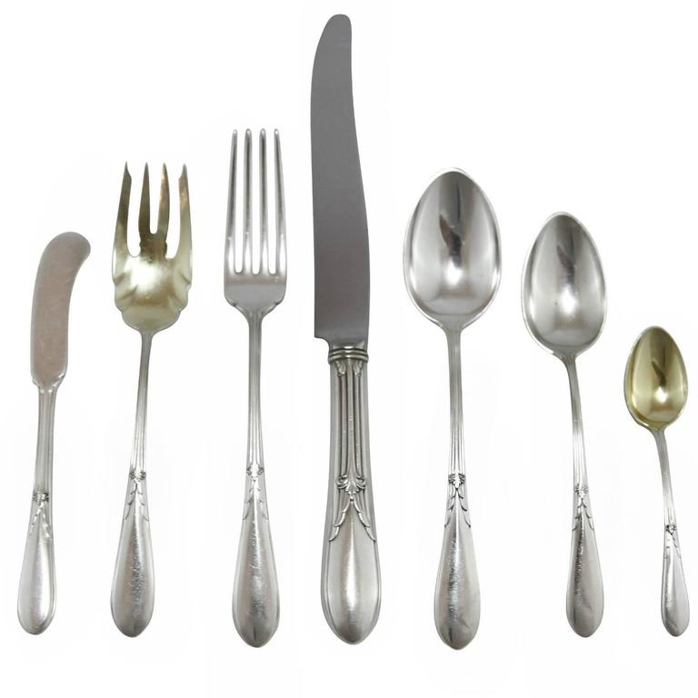 20th Century \u0027Rose Marie\u0027 Sterling Silver Flatware Set by Gorham ...  sc 1 st  1stDibs & 20th Century \u0027Rose Marie\u0027 Sterling Silver Flatware Set by Gorham For ...