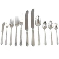 20th Century 'Princess Patricia' Sterling Silver Flatware Set by Gorham