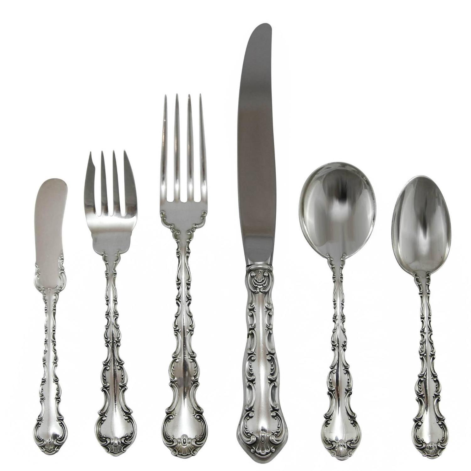 20th century sterling silver flatware set in the pattern by gorham - Sterling Silver Flatware