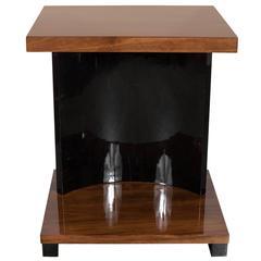 Streamline Art Deco Machine Age End Table by the Modernage Company