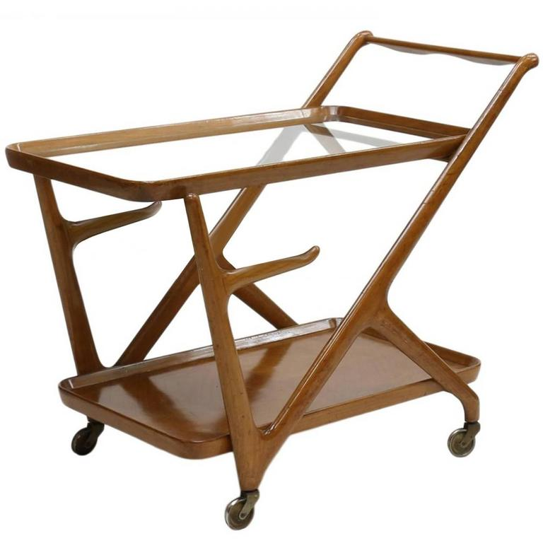 Italian 1950s Bar Cart Designed by Cesare Lacca for Cassina 1