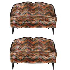 Pair of JFK Era Loveseats from the Carlyle Hotel, NYC