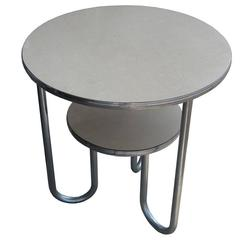 Wolfgang Hoffmann for Royal-Chrome Art Deco Tiered Side Table
