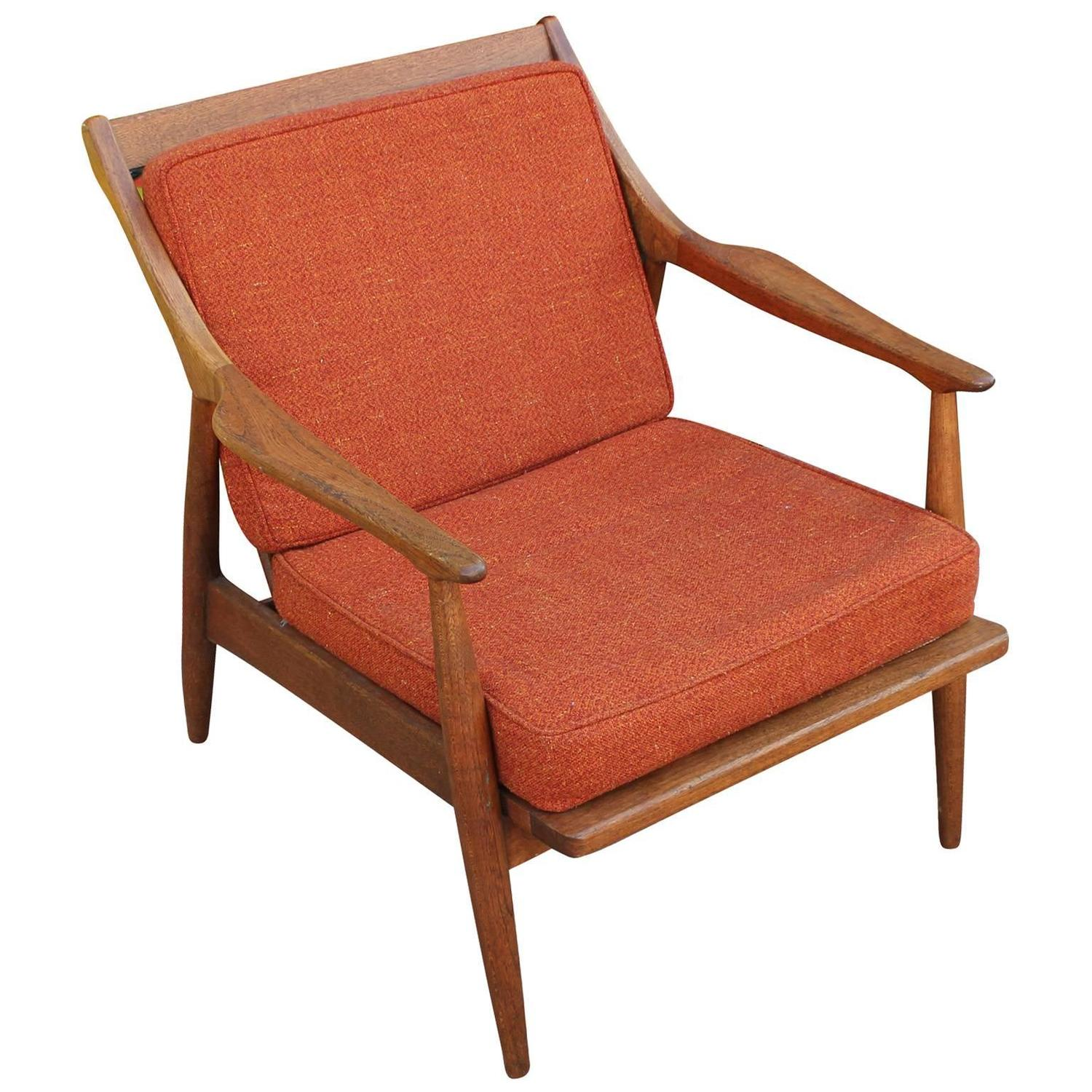 Danish Style Lounge Chair at 1stdibs