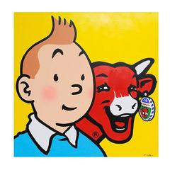 Tintin and Cow by Antonio De Felipe, Spain, 2003