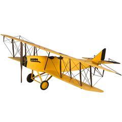 Curtis JN Biplane Handmade Model
