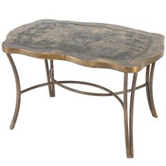 """Pompadour Floral"" Philip and Kelvin LaVerne Side Table"