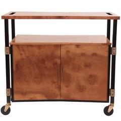 Phenomenal Figural Burl Wood Bar Cart by Romweber