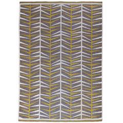 """Ingrid Dessau, """"Coniferous Forest"""" Flat-Weave Rug, Sweden, 1950s"""