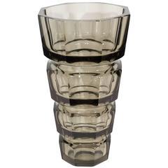 Gray Crystal Moser Vase