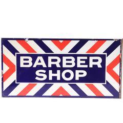 Classic Enamel Barber Shop Sign