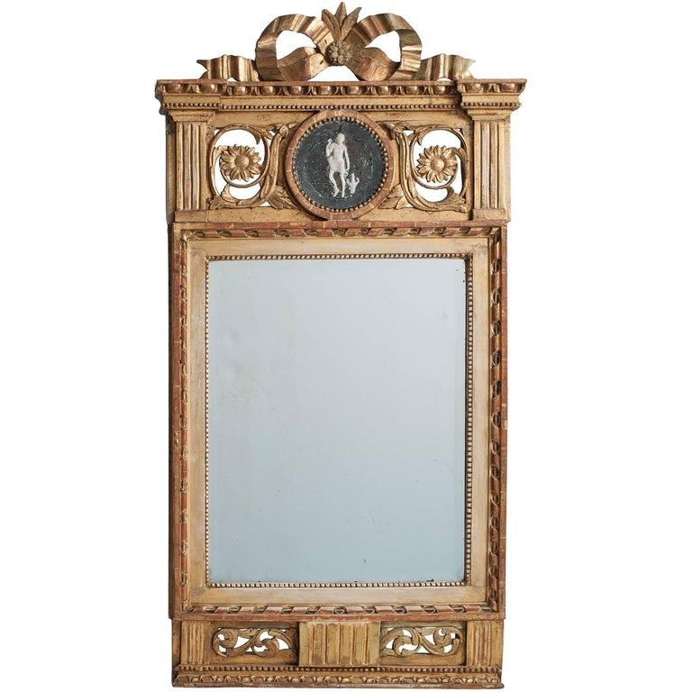 Swedish Gustavian Period Signed Stockholm Mirror, circa 1780 For Sale