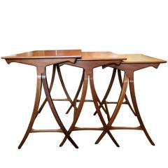 Danish Wood Nest Tables, 1960s