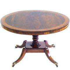Antique 19th Century Regency Rosewood Circular Table
