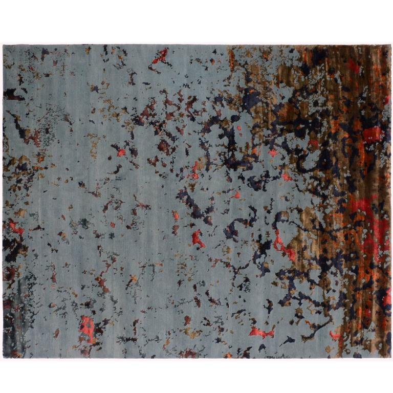 Wool Silk Rugs Contemporary: Contemporary Wool And Silk Rug For Sale At 1stdibs